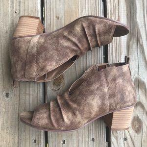 •VERY G• NWT Slip-on Jennifer Peep Toe Booties